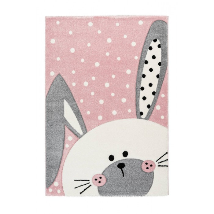 Χαλί Happy Bunnie Pink & Grey Breeze 068